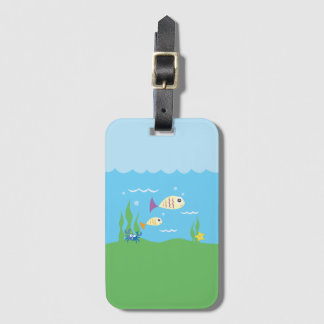 Funny Just Keep Swimming Underwater Ocean Fish Luggage Tag