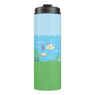 Funny Just Keep Swimming Underwater Ocean Fish Thermal Tumbler