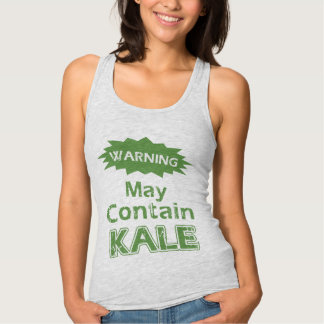 Funny Kale Womens Slim Fit Racerback Tank Top