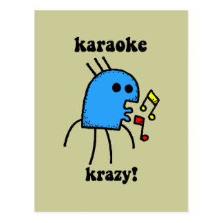 funny karaoke postcard