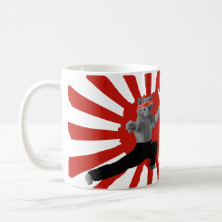 Funny Karate Kitten gifts Basic White Mug