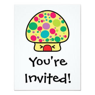 funny kawaii toadstool mushroom house 11 cm x 14 cm invitation card