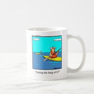 Funny Kayak Cartoon Mug