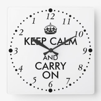 Funny Keep Calm and Carry On Backwards Late Clock