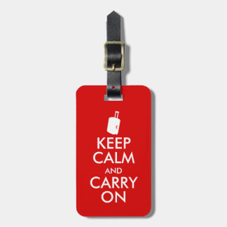 Funny Keep Calm and Carry On Luggage Tag Suitcase