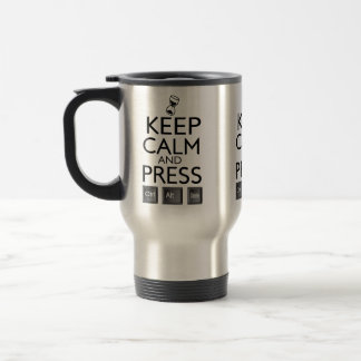 Funny Keep Calm and Press Control Alt and Delete Stainless Steel Travel Mug