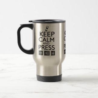 Funny Keep Calm and Press Control Alt and Delete Travel Mug