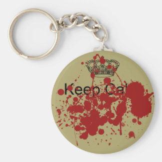 Funny Keep Calm Basic Round Button Key Ring
