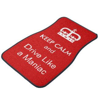 Funny Keep Calm Car Mats Set