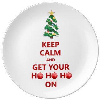 Funny Keep Calm Christmas Decorative Gift Plate Porcelain Plate