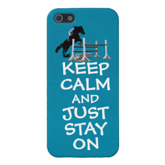 Funny Keep Calm & Just Stay On Horse iPhone 5/5S Cover
