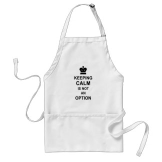 Funny Keep Calm Keeping Calm is not an option Standard Apron