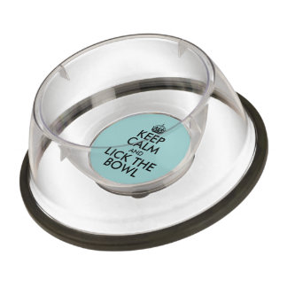 Funny Keep Calm Lick the Pet Bowl for Dog or Cat