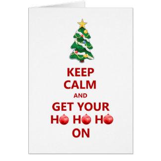 Funny Keep Calm Modern Christmas Tree Card