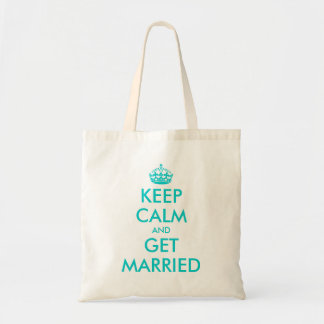 Funny Keep Calm wedding tote bag for bridesmaid