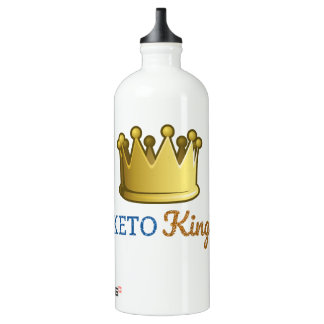 Funny Keto King Crown Water Bottle