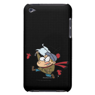 funny kid steals fake santas beard iPod touch Case-Mate case
