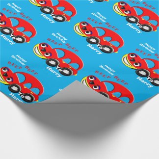 Funny Kids Cartoon Car Theme Personalised