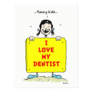 Funny Kids Positive Dental Quotes Postcard