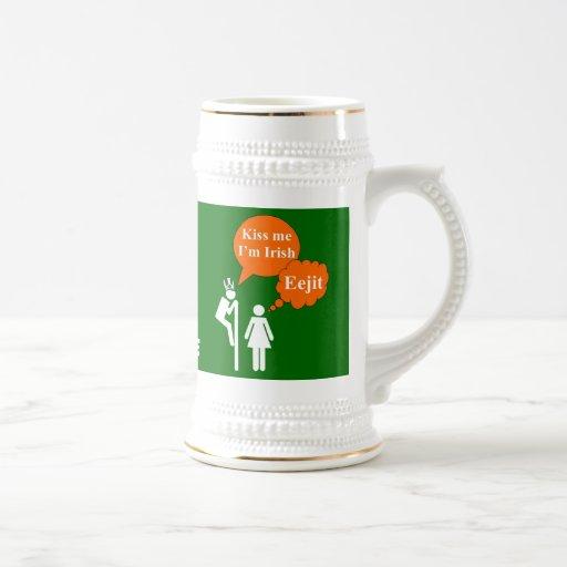 Funny kiss me I'm Irish Mug