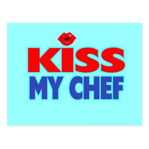 Funny Kiss My Chef Postcard