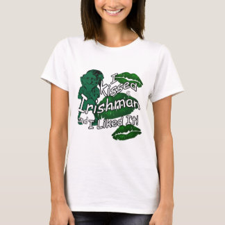 Funny Kissed Irishman St Patrick's White T-Shirt