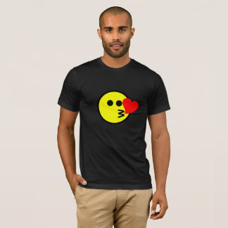 Funny Kissing Emoji Smiley Face T-Shirt