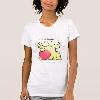 Funny Kitten Bowler T Shirt