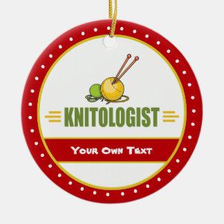 Funny Knitting Ceramic Ornament