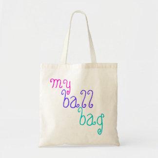 funny knitting 'my ball bag' for balls of wool tote bag