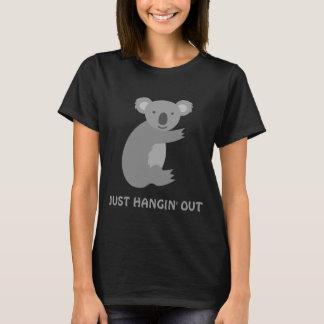 Funny koala bear shortsleeve womens tshirts