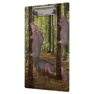 Funny Koala-Wannabe Hippos Clipboard