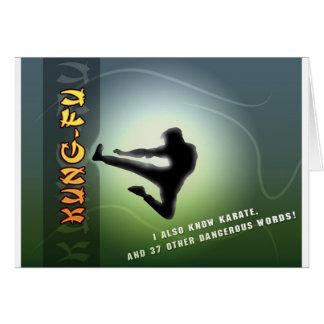 Funny Kung-Fu Card