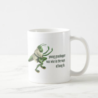 Funny Kung Fu Grasshopper Classic White Coffee Mug