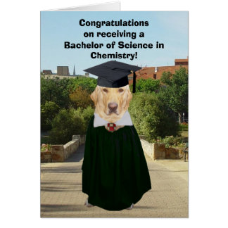 Funny Lab Chemistry Graduate Card