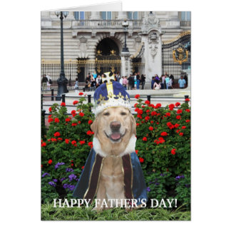 Funny Lab Father's Day Greeting Card