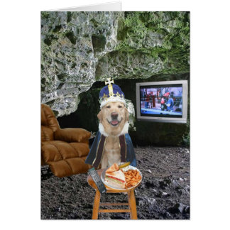 Funny Lab Man Cave Father s Day Greeting Card
