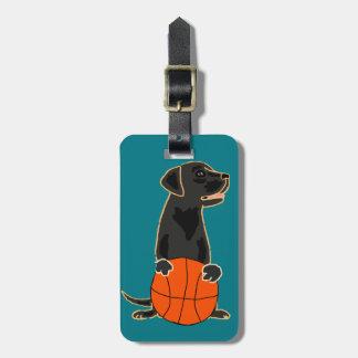 Funny Labrador Retriever Playing Basketball Luggage Tag