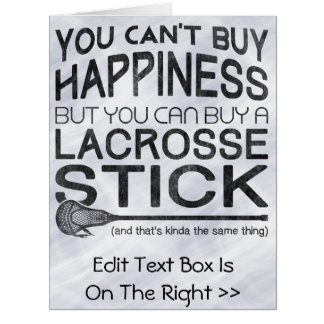 Funny Lacrosse Greeting Card Birthday Card
