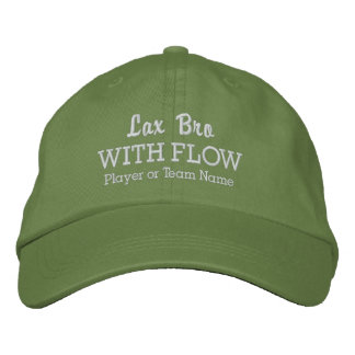 Funny Lacrosse Lax Bro With Flow Team Player Name Embroidered Hats