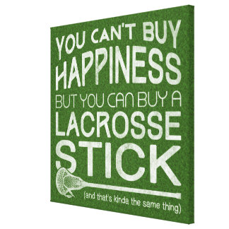 Funny Lacrosse Print Art Work Canvas Print