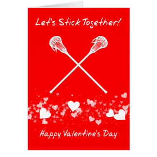 Funny Lacrosse Valentine's Day Card, Customizable Card