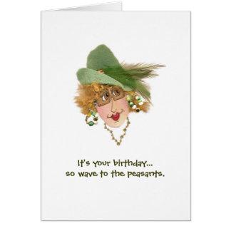 Funny Lady birthday card