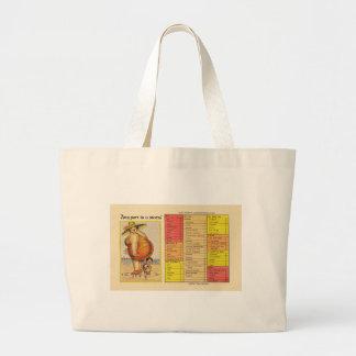 Funny Lady on Beach Jumbo Tote Bag