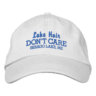 Funny Lake Hair Don't Care Custom Lake Name Embroidered Cap
