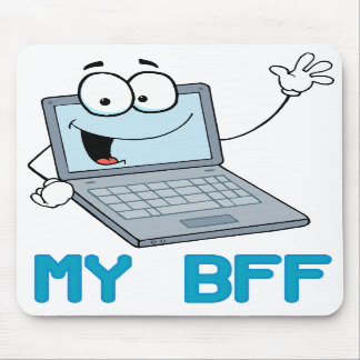 funny laptop my bff cartoon mousepad
