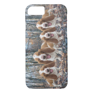 Funny Laughing Basset Hounds in the Woods iPhone 7 Case
