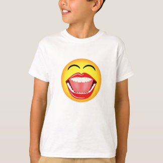 Funny Laughing Big Open Mouth Smiley Face Emoji T-Shirt