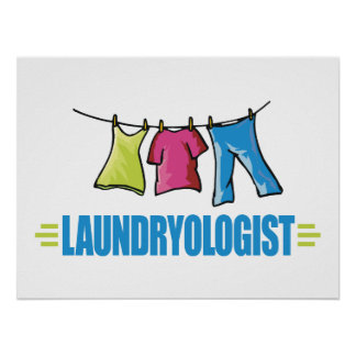 Funny Laundry Poster