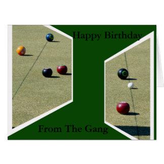 Funny Lawn Bowls Dimensions, Big Greeting Card. Big Greeting Card
